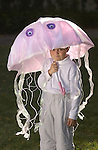 Denver, Colorado.  October 12, 2004}   Halloween costumes.  The jellyfish is Zachary Culver, 7, from Erie.   (Photo by Ellen Jasko/Rocky Mountain Newsl)