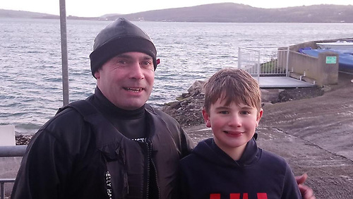 Gavin (left) and George Doig at East Antrim Boat Club Photo: Sue Kitson