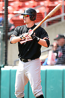 May 9, 2009:  Designated Hitter Matt Wieters of the Norfolk Tides, International League Class-AAA affiliate of the Baltimore Orioles, on deck during a game at Coca-Cola Field in Buffalo, FL.  Photo by:  Mike Janes/Four Seam Images