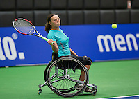 Rotterdam,Netherlands, December 15, 2015,  Topsport Centrum, Lotto NK Tennis, Maaike Derks-Snellenberg (NED)<br /> Photo: Tennisimages/Henk Koster