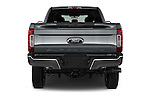 Straight rear view of 2017 Ford F-250 XLT-Crew 4 Door Pick-up Rear View  stock images
