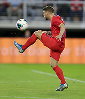 WASHINGTON, D.C. - OCTOBER 11: Paul Arriola #7 of the United States moves with the ball during their Nations League game versus Cuba at Audi Field, on October 11, 2019 in Washington D.C.