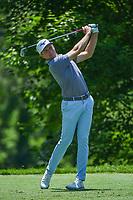 5th June 2021; Dublin, Ohio, USA; Bo Hoag (USA) watches his tee shot on 4 during the Memorial Tournament Rd3 at Muirfield Village Golf Club on June 5, 2021 in Dublin, Ohio.