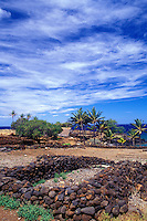 Lapakahi State Historical Park,the site of a restored 14th-century fishing village, on the Big Island