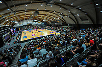 A general view during the Cadbury Netball Series final between NZ Silver Ferns and NZ Men at the Fly Palmy Arena in Palmerston North, New Zealand on Saturday, 24 October 2020. Photo: Dave Lintott / lintottphoto.co.nz