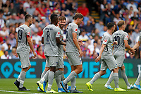 GOAL - Marvin Plattenhardt of Hertha Berlin is the scorer during the pre season friendly match between Crystal Palace and Hertha BSC at Selhurst Park, London, England on 3 August 2019. Photo by Carlton Myrie / PRiME Media Images.