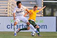 Takashi Hirano (white) Vancouver Whitecaps, Luke Kreamalmeyer...AC St Louis and Vancouver Whitecaps played to a 0-0 tie at Anheuser-Busch Soccer Park, Fenton, Missouri.