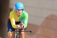 9th September 2021; Trento, Trentino–Alto Adige, Italy: 2021 UEC Road European Cycling Championships, Womens Individual time trials:  SENKUTĖ Viktorija (LTU)