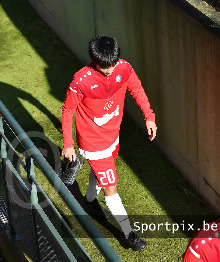 Thomas-Le Desurmont (20) of Luxemburg pictured during a soccer game between the national teams Under17 Youth teams of  Norway and Luxemburg on day 2 in the Qualifying round in group 3 on saturday 9 th of October 2020  in Tubize , Belgium . PHOTO SPORTPIX | DAVID CATRY
