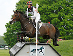 LEXINGTON, KY - APRIL 30: #79 Veronica and Lauren Kieffer compete in the Cross Country Test for the Rolex Kentucky 3-Day Event at the Kentucky Horse Park.  April 30, 2016 in Lexington, Kentucky. (Photo by Candice Chavez/Eclipse Sportswire/Getty Images)