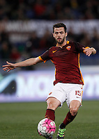 Calcio, Serie A: Roma vs Bologna. Roma, stadio Olimpico, 11 aprile 2016.<br /> Roma's Miralem Pjanic in action during the Italian Serie A football match between Roma and Bologna at Rome's Olympic stadium, 11 April 2016.<br /> UPDATE IMAGES PRESS/Isabella Bonotto