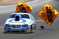 Jul. 27, 2013; Sonoma, CA, USA: NHRA pro stock driver Allen Johnson during qualifying for the Sonoma Nationals at Sonoma Raceway. Mandatory Credit: Mark J. Rebilas-