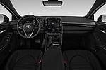Stock photo of straight dashboard view of a 2020 Toyota Avalon XSE 4 Door Sedan