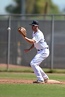 Seattle Mariners first baseman Kyle Petty (66) during an Instructional League game against the Milwaukee Brewers on October 4, 2014 at Peoria Stadium Training Complex in Peoria, Arizona.  (Mike Janes/Four Seam Images)