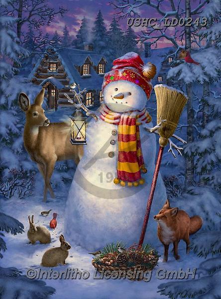 Liz,CHRISTMAS SANTA, SNOWMAN, WEIHNACHTSMÄNNER, SCHNEEMÄNNER, PAPÁ NOEL, MUÑECOS DE NIEVE, LizDillon, paintings+++++,USHCLD0243,#X#
