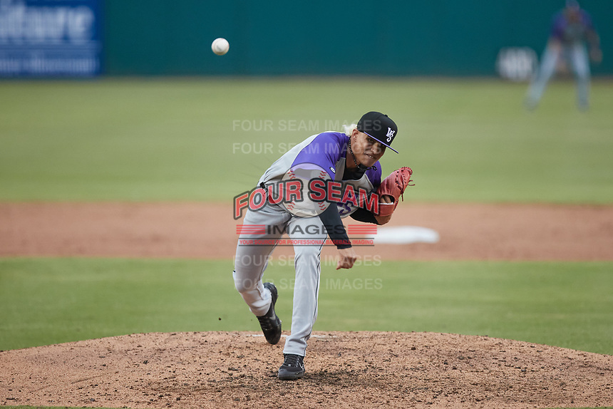 Winston-Salem Dash relief pitcher Wilber Perez (28) in action against the Greensboro Grasshoppers at First National Bank Field on June 3, 2021 in Greensboro, North Carolina. (Brian Westerholt/Four Seam Images)