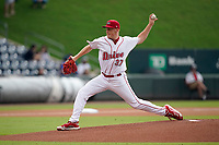 Starting pitcher Brandon Walter (37) of the Greenville Drive in a game against the Rome Braves on Tuesday, August 3, 2021, at Fluor Field at the West End in Greenville, South Carolina. (Tom Priddy/Four Seam Images)