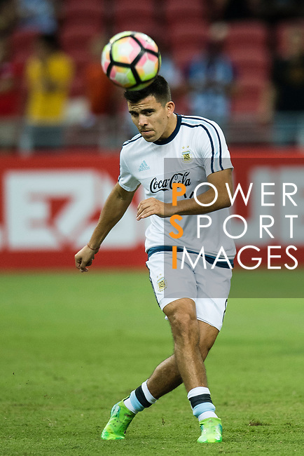 Marcos Acuna of Argentina warming up during the International Test match between Argentina and Singapore at National Stadium on June 13, 2017 in Singapore. Photo by Marcio Rodrigo Machado / Power Sport Images