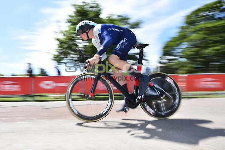 Picture by SWpix.com 28/06/2018 - HSBC UK Men's U23 National Time Trial Championships - Kirkley Hall, Northumberland, England - Thomas Baylis of One Pro Cycling