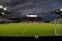 12th May 2021; Fort Lauderdale, Miami, USA;  The stadium prior to a rain delay due to lightning during the Inter Miami CF match against CF Montreal on May 12, 2021 at DRV PNK Stadium.