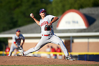 Auburn Doubledays relief pitcher Kevin Mooney (33) during the second game of a doubleheader against the Batavia Muckdogs on September 4, 2016 at Dwyer Stadium in Batavia, New York.  Batavia defeated Auburn 6-5. (Mike Janes/Four Seam Images)