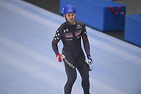 SPEEDSKATING: 23-11-2019 Tomaszów Mazowiecki (POL), ISU World Cup Arena Lodowa, Mass Start Final Men, winner Joey Mantia (USA), ©photo Martin de Jong