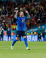 210707 -- LONDON, July 7, 2021 -- Federico Bernardeschi of Italy celebrates after scoring during the penalty shootout of the semifinal between Italy and Spain at the UEFA EURO, EM, Europameisterschaft,Fussball 2020 in London, Britain, on July 6, 2021.  SPBRITAIN-LONDON-FOOTBALL-UEFA EURO 2020-SEMIFINALS-ITALY VS SPAIN HanxYan PUBLICATIONxNOTxINxCHN<br /> Photo Imago/Insidefoto ITA ONLY