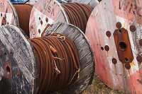Rolls of Metal Cable, Port of Astoria, Oregon