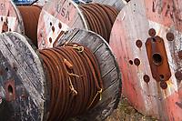 Rolls of Metal Cable, Port of Astoria, Oregon