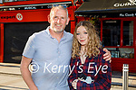 Enjoying the evening in Teach Beag on Friday, l to r: Tommy Brosnan and Ellie O' Hanlon.