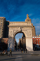 Arch in Washington Square Park and 5th avenue, Manhattan, New York City