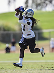 Dallas Cowboys wide receiver Dwayne Harris (17) in action at the Dallas Cowboys 2012 Training Camp which was held at the Marriott Resident Inn football fields in Oxnard, CA.