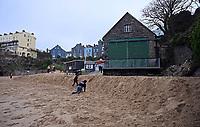 2021 02 01 Castle beach, Tenby, Wales, UK.