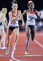 May 25, 2013: Georganne Moline #46 of Arizona competes in 4x400 relay quarterfinal during NCAA Outdoor Track & Field Championships West Preliminary at Mike A. Myers Stadium in Austin, TX.