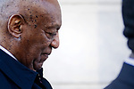 Bill Cosby arrives for the second day of jury deliberations at Montgomery County Court House, in Norristown, PA, on April 26, 2018.