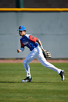 Christian Maceda (8) of Paramus Catholic in Oradell, New Jersey during the Baseball Factory All-America Pre-Season Tournament, powered by Under Armour, on January 13, 2018 at Sloan Park Complex in Mesa, Arizona.  (Mike Janes/Four Seam Images)