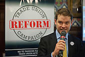 Aidan Burley MP.  Launch of the Conservative-led Trade Union Reform Campaign, House of Commons, London.