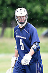 GER - Hannover, Germany, May 30: During the Men Lacrosse Playoffs 2015 match between HLC Rot-Weiss Muenchen (blue) and KKHT Schwarz-Weiss Koeln (weiss) on May 30, 2015 at Deutscher Hockey-Club Hannover e.V. in Hannover, Germany. Final score 5:6. (Photo by Dirk Markgraf / www.265-images.com) *** Local caption *** Michael Wolter #5 of HLC Rot-Weiss Muenchen