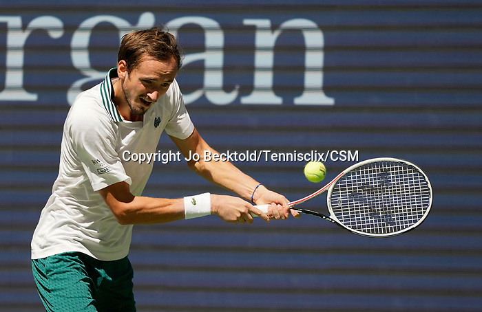 September  7, 2021:  Daniil Medvedev (RUS) defeated Botic Van De Zandschulp (NED) 6-3, 6-0, 4-6, 7-5, at the US Open being played at Billy Jean King Ntional Tennis Center in Flushing, Queens, New York / USA  ©Jo Becktold/Tennisclix/CSM/CSM