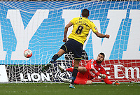 Liam Sercombe of Oxford United scores his sides first goal  from penalty  during the Emirates FA Cup 3rd Round between Oxford United v Swansea     played at Kassam Stadium  on 10th January 2016 in Oxford