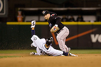 May 19, 2010: Toronto Blue Jays second baseman Aaron Hill (2) attempts to turn a double play during a game against the Seattle Mariners at Safeco Field in Seattle, Washington.