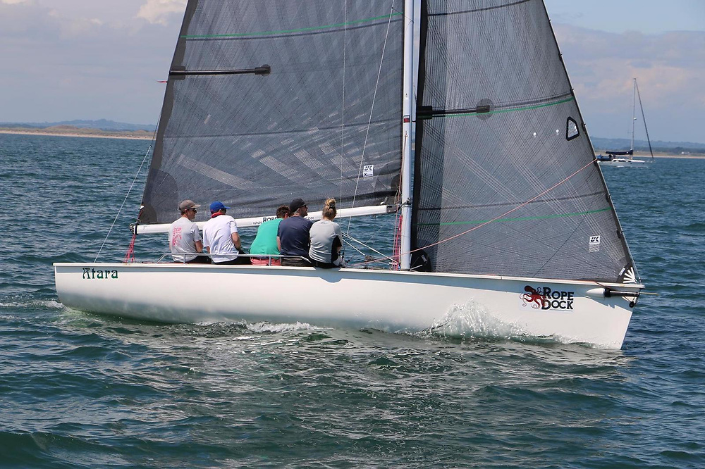 Atara from Howth Yacht Club using a full inventory of UK Sails and a new XD carbon mainsail were crowned the 1720 Eastern Championships winner