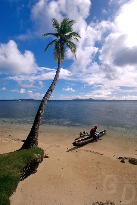 Beach in Chuuk, Micronesia