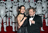 """Daisy Ridley and Mark Hamill<br /> arriving for the """"Star Wars: The Last Jedi"""" film premiere at the Royal Albert Hall, London.<br /> <br /> <br /> ©Ash Knotek  D3363  12/12/2017"""