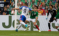 Mexico City, Mexico - Sunday June 11, 2017: Bobby Wood during a 2018 FIFA World Cup Qualifying Final Round match between the men's national teams of the United States (USA) and Mexico (MEX) at Azteca Stadium.