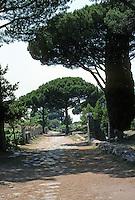 Italy: Ostia--View of Main Street. Decumanus Maximus.  Photo '83.