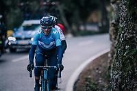 race leaders Alejandro Valverde (ESP/Movistar), Gianni Moscon (ITA/SKY) & Tim Wellens (BEL/Lotto-Soudal)<br /> <br /> Trofeo Lloseta - Andratx: 140km<br /> 27th Challenge Ciclista Mallorca 2018