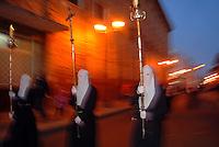 TUNJA -COLOMBIA. 12-04-2014. Preambulo a la Semana Santa en la capital de Boyaca / Preamble to Easter in the capital of Boyaca. Photo: VizzorImage / Jose Miguel Palencia / Stringer
