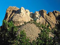 Sunrise on Mount Rushmore, South Dakota