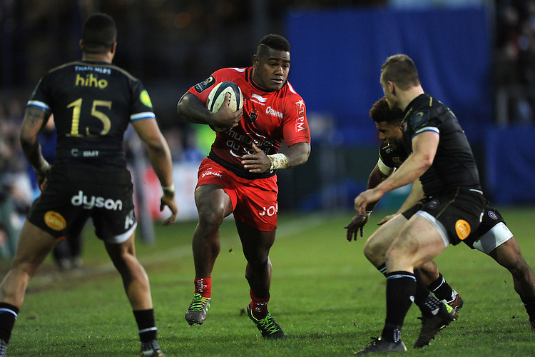 Josua Tuisova of RC Toulon in action during the European Rugby Champions Cup match between Bath Rugby and RC Toulon - 23/01/2016 - The Recreation Ground, Bath Mandatory Credit: Rob Munro/Stewart Communications
